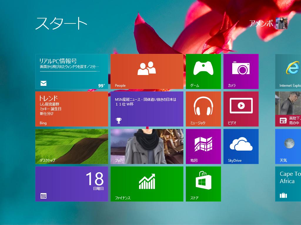 Windows8 壁紙 変更